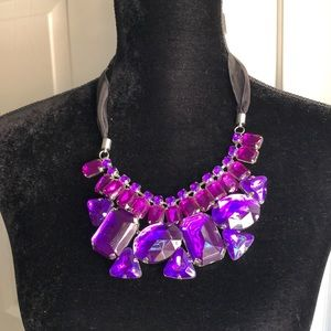 Jewelry - Purple Chunky Gemstone Necklace